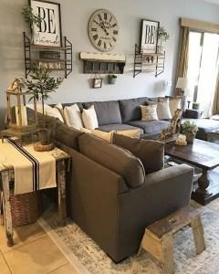 Awesome country farmhouse decor living room ideas 40