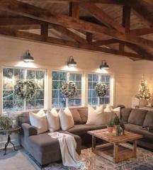 Awesome country farmhouse decor living room ideas 45