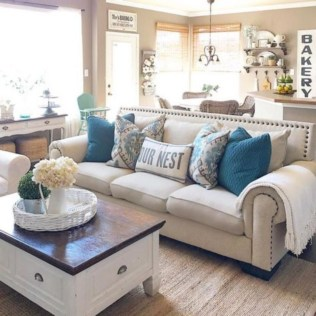Awesome country farmhouse decor living room ideas 48
