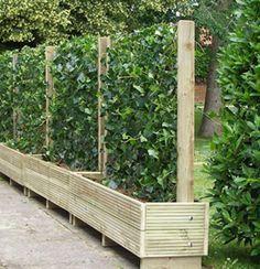 Beautiful yet functional privacy fence planter boxes ideas 23