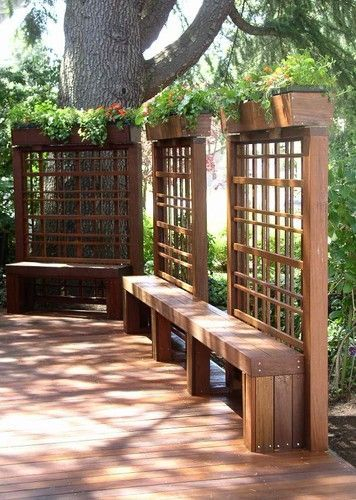 Beautiful yet functional privacy fence planter boxes ideas 43