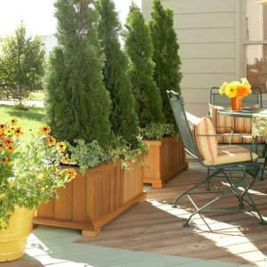 Beautiful yet functional privacy fence planter boxes ideas 48