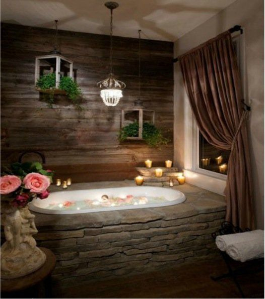 Cozy master bathroom decor ideas 05