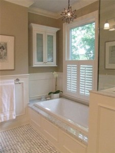 Cozy master bathroom decor ideas 17