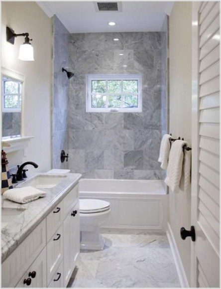 Cozy master bathroom decor ideas 21