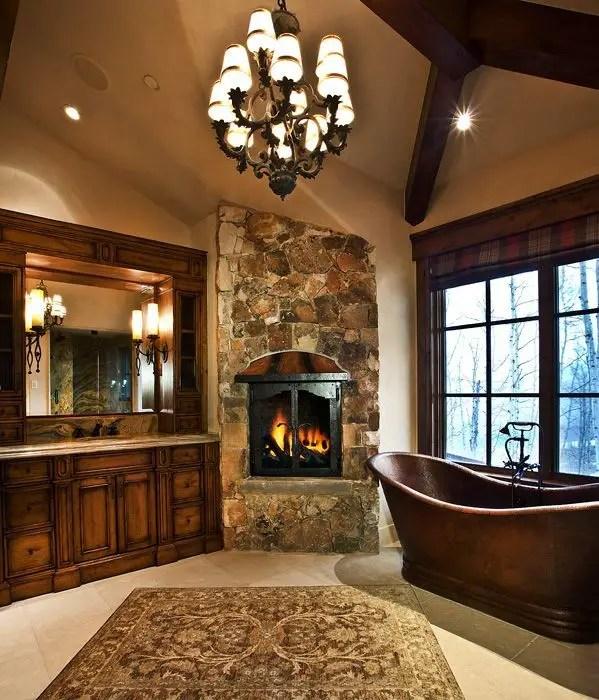 Cozy master bathroom decor ideas 23