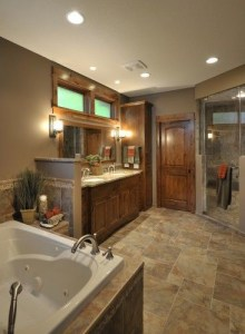 Cozy master bathroom decor ideas 25