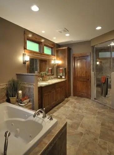 Cozy master bathroom decor ideas 25