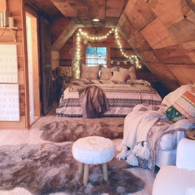 Cozy and beautiful bedroom for winter decor ideas 18