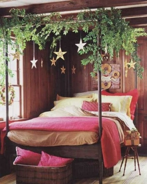 Cozy and beautiful bedroom for winter decor ideas 19