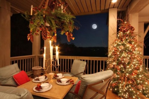 Fabulous winter patio decorating ideas 49