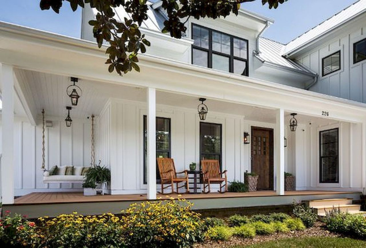 Modern farmhouse exterior design ideas 38