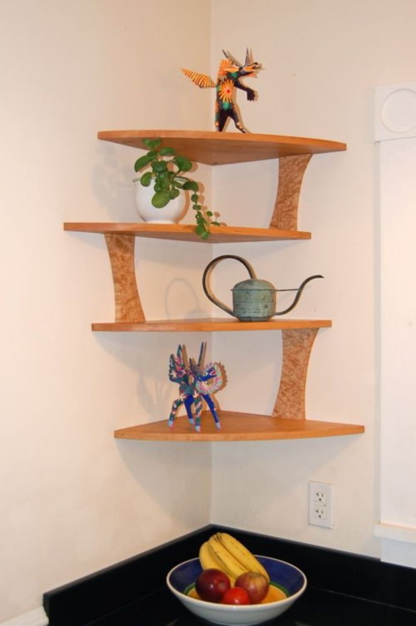 Corner shelves that change home decor become more beautiful 07