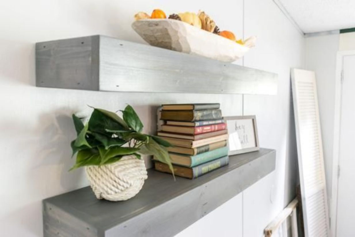 Corner shelves that change home decor become more beautiful 09