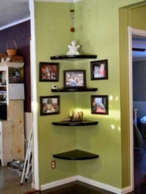 Corner shelves that change home decor become more beautiful 31