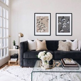 Design a living room in a small space that remains comfortablel 12