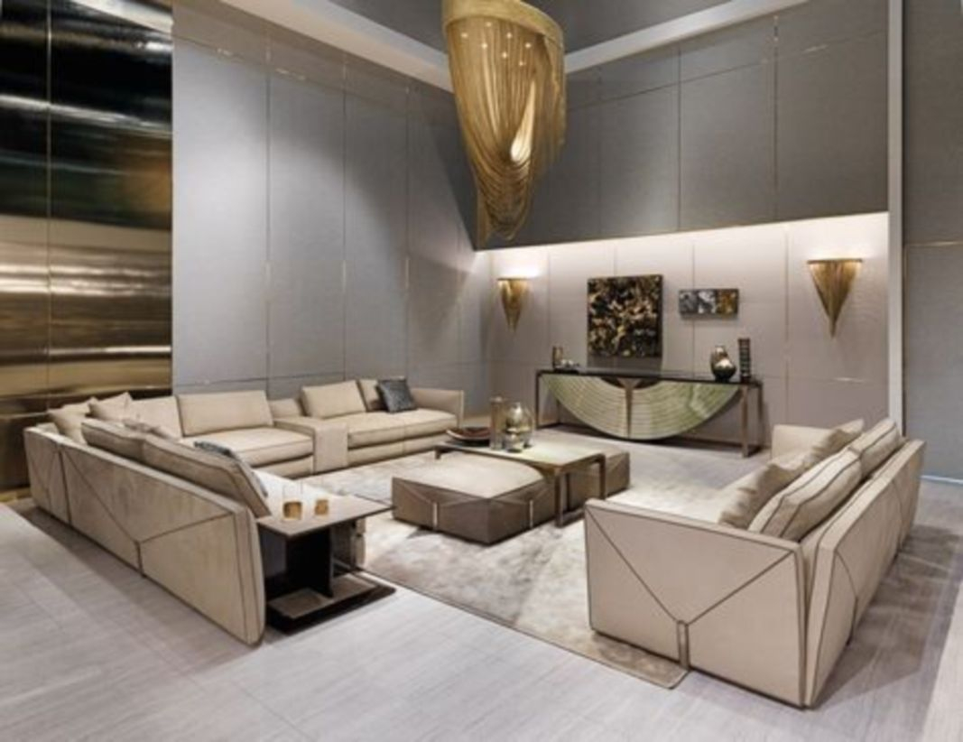 The design of the living room looks luxurious 11