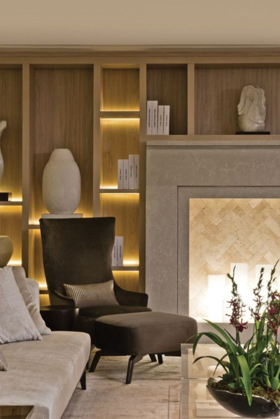 The design of the living room looks luxurious 20