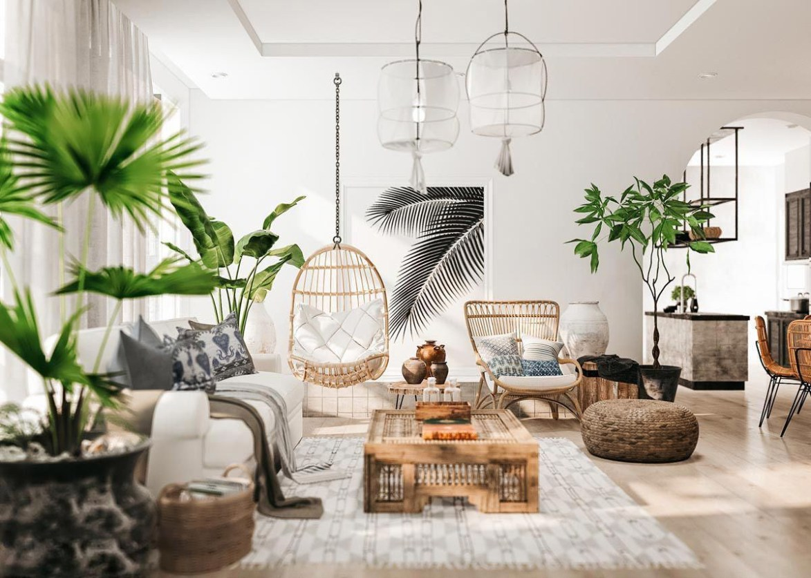 The design of the living room looks luxurious 21