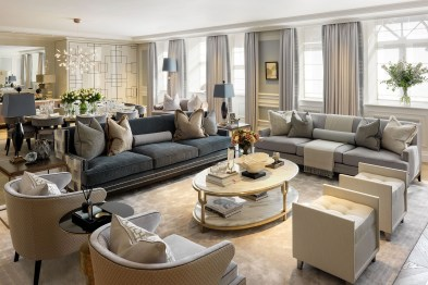 The design of the living room looks luxurious 27