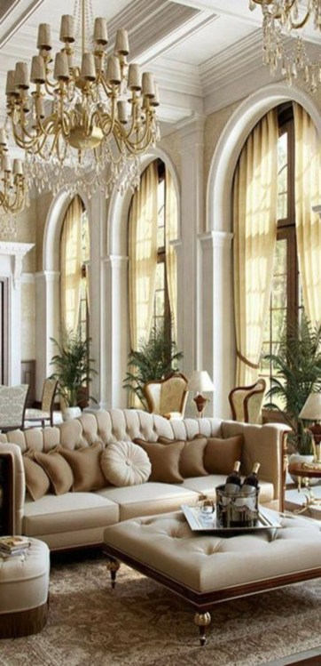 The design of the living room looks luxurious 33