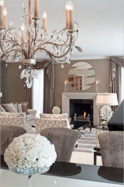 The design of the living room looks luxurious 37