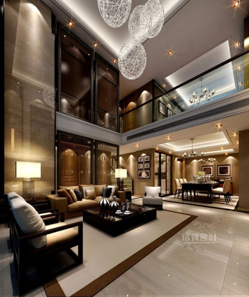 The design of the living room looks luxurious 43