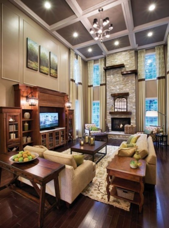 The design of the living room looks luxurious 48