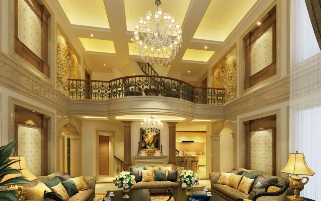 The design of the living room looks luxurious 49