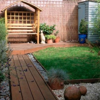 The best garden design for small areas 36