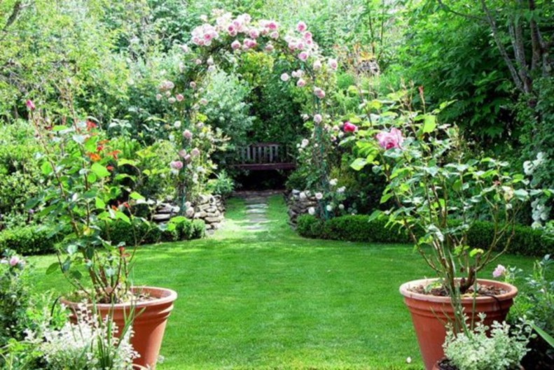 The best garden design for small areas 44