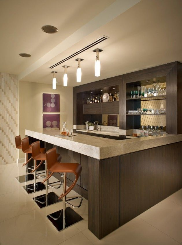 Amazing mini bar design ideas that you can copy right now 13