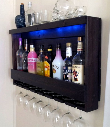 Amazing mini bar design ideas that you can copy right now 31