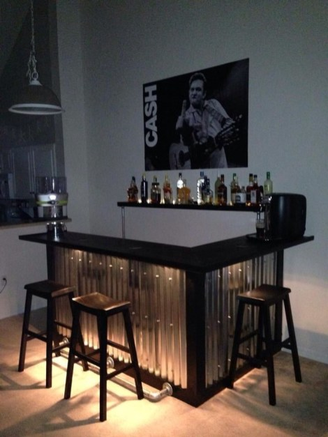 Amazing mini bar design ideas that you can copy right now 36