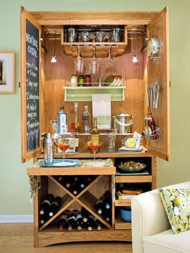 Amazing mini bar design ideas that you can copy right now 52