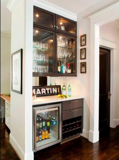 Amazing mini bar design ideas that you can copy right now 54