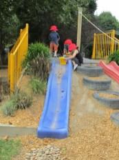 Backyard design ideas with children's slides 25