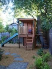 Backyard design ideas with children's slides 27