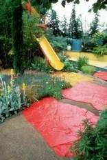 Backyard design ideas with children's slides 29