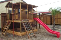 Backyard design ideas with children's slides 45