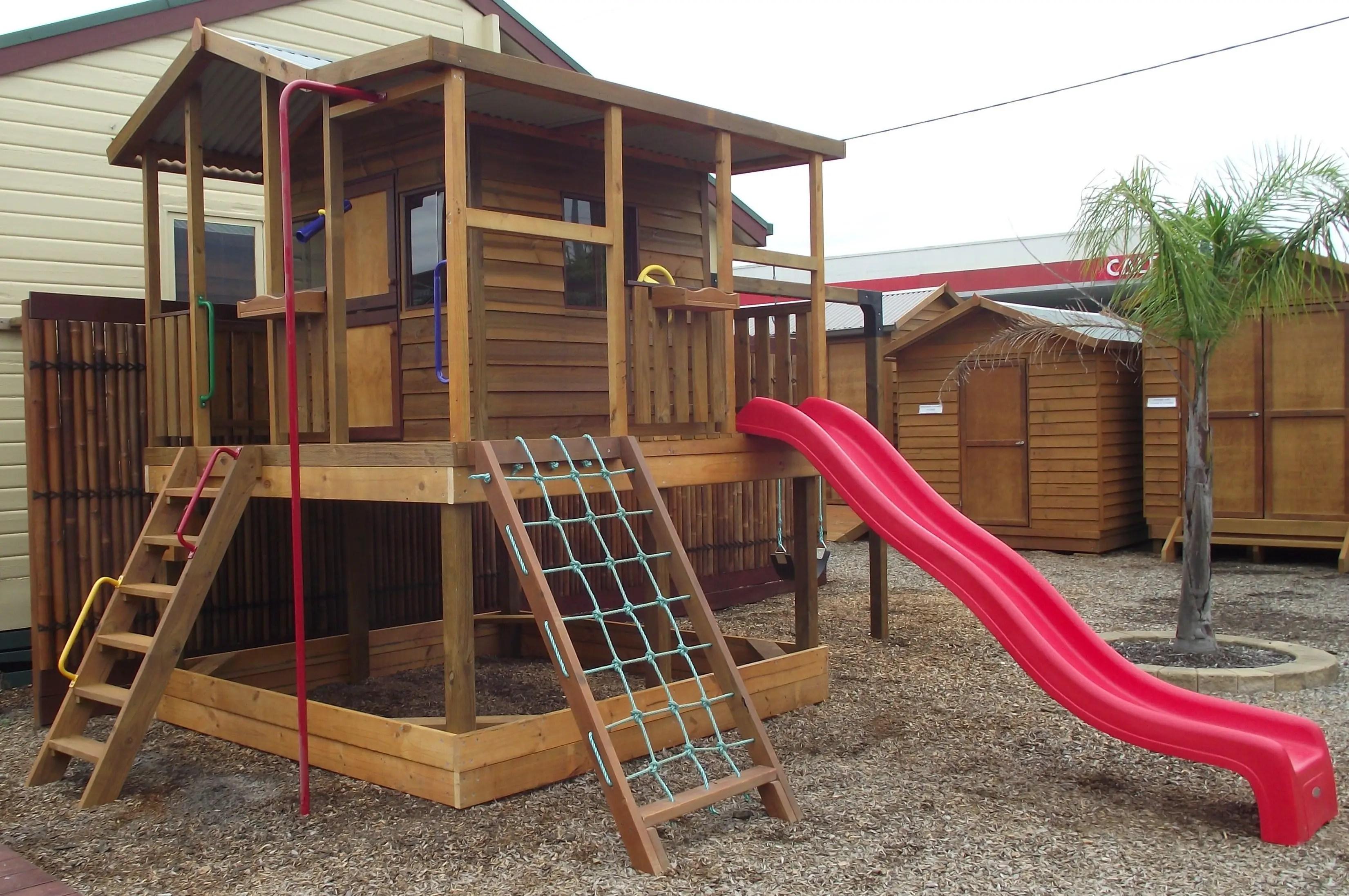Backyard design ideas with children's slides 45