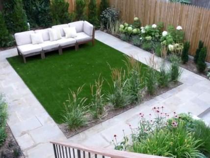 Garden exterior design ideas using grass that make your home more fresh 32