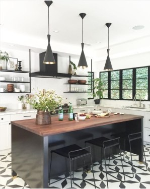 Kitchen floor design with the best motives 26