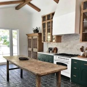 Kitchen floor design with the best motives 40
