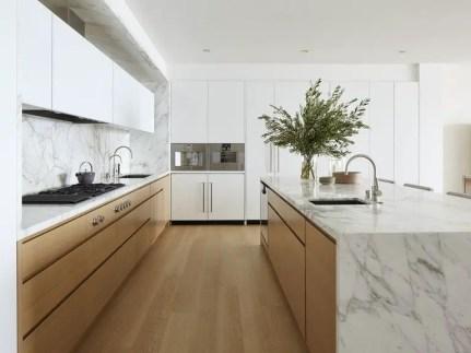 Kitchen floor design with the best motives 45