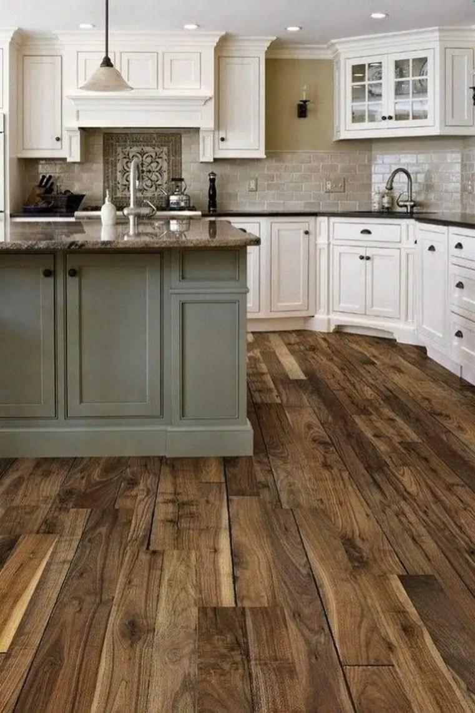 Kitchen floor design with the best motives 46