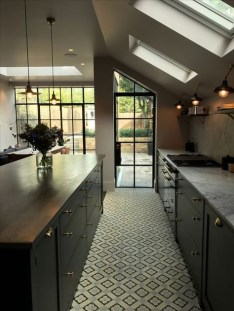 Kitchen floor design with the best motives 54