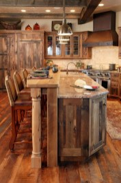 Rustic kitchen cabinet design ideas are very popular this year 11