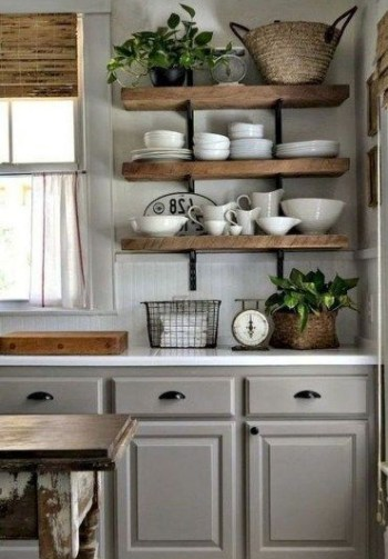 Rustic kitchen cabinet design ideas are very popular this year 16