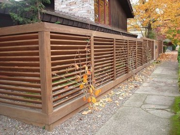 The best fence wooden design that you can try in your home 13